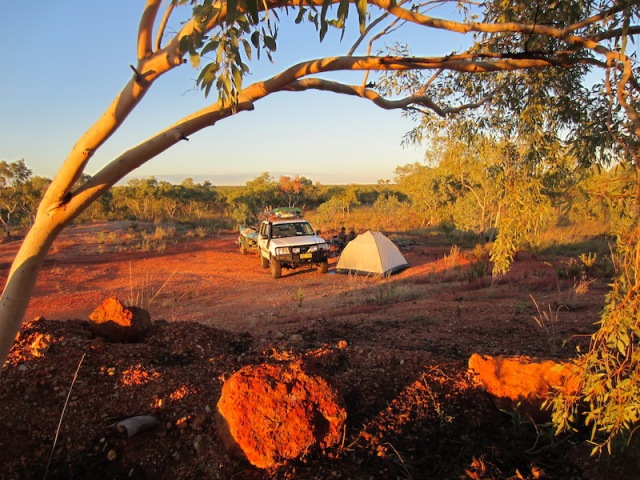 An Australian free bush camp on our way north a week after our Part 1 Odyssey began.