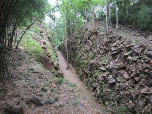 Railway cutting on the infamous Burma Railway.