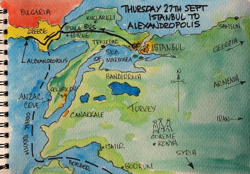 Days 1 to 4 Samothraki Fred and Bevs Odyssey