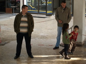 The kids at the bus station this morning. The locals seem indifferent to the Romas.