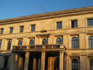 The exterior of the present building. Naturally the eagle and swastika shown in the previous photograph have gone.