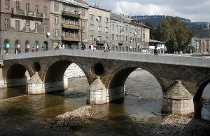 The Latin Bridge where the Archduke was assassinated.