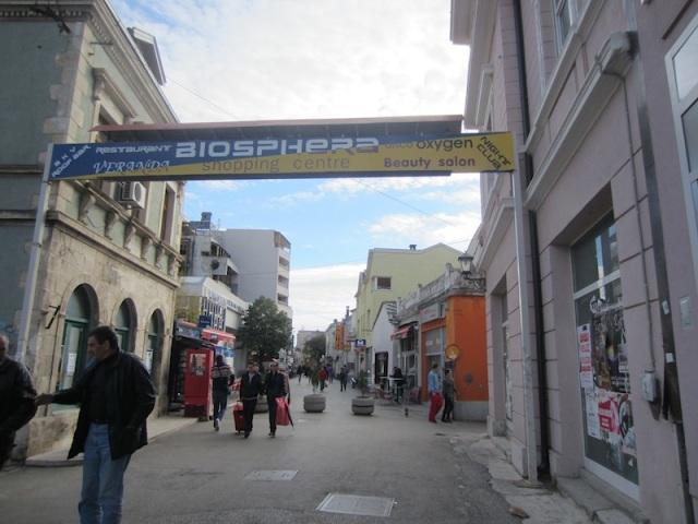 Mostar pedestrian mall.