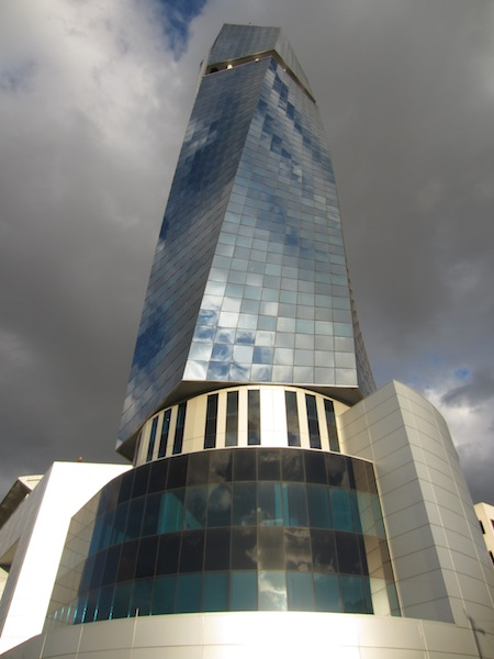 The Avaz Twist Tower not far from the train station.