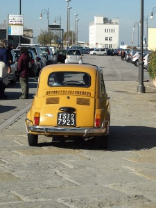 Baby Fiat 500.  Also known as an Italian backpack!
