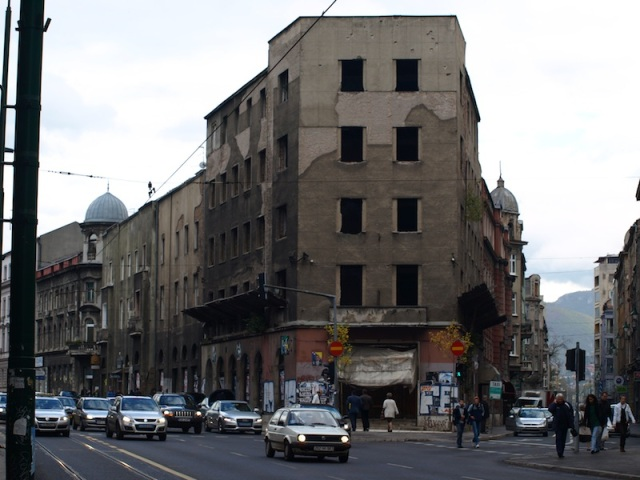 A Sarajevo street which would have seen much action during the war.