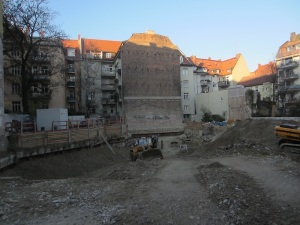 The building site where the WW2 bomb was discovered.