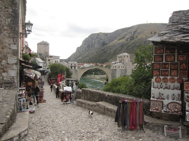 The walk to the bridge passes through the old Ottoman Quarter, which is now a tourist shopping mecca.