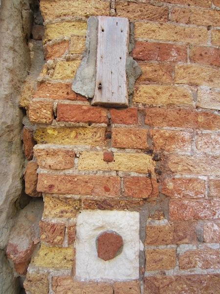 Brickwork revealed.