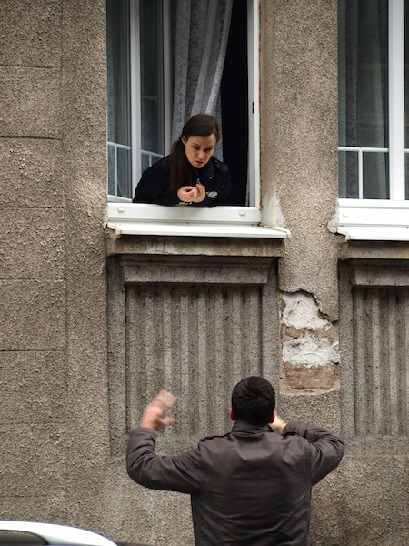 The Romeo and Juliet of Sarajevo. Maybe not a good place to stand during the war.