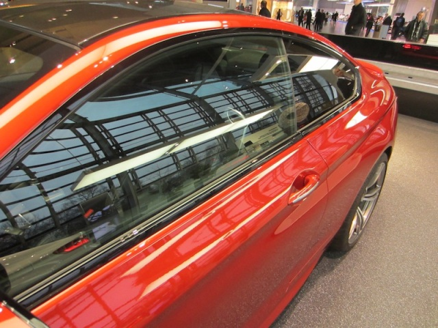 Stylish lines of a BMW M6 Coupe.