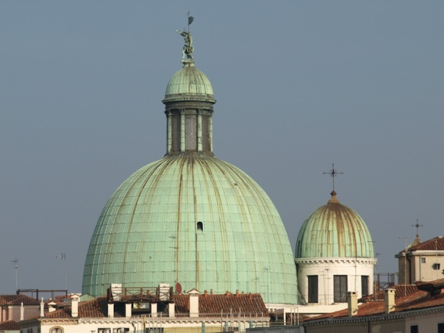 The domes of the Baroque church, Santa Maria della Salute.
