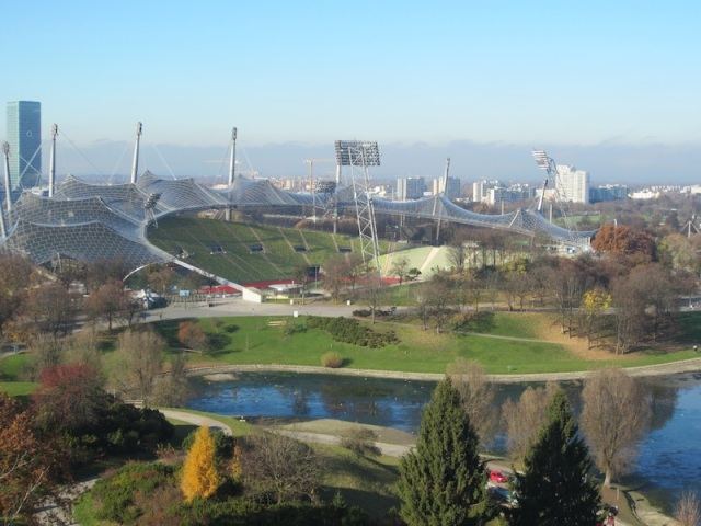 The Olympic stadium.