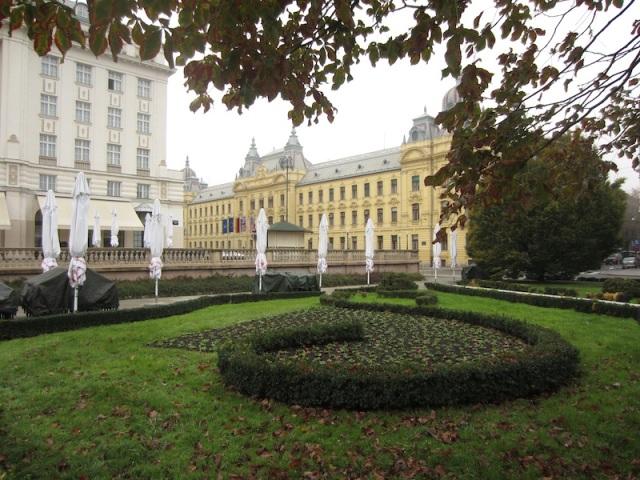 Grand buildings near the Zagreb railway station.