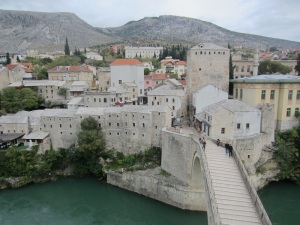 The western side of Mostar..