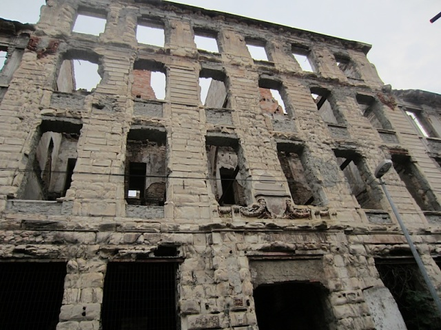 A once majestic building destroyed.