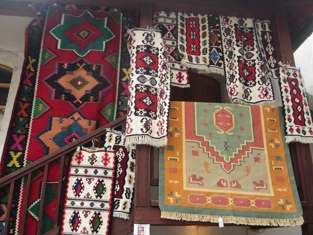 Colourful Turkish mats.