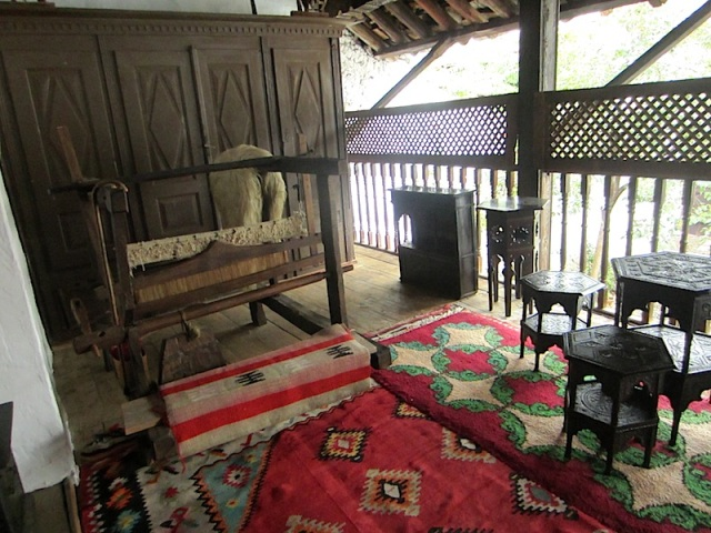 Veranda and entrance to the Turkish house.