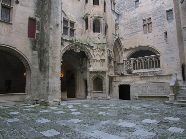 The inner ward of the chateau.