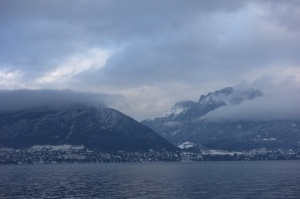 Very cold view across the lake.