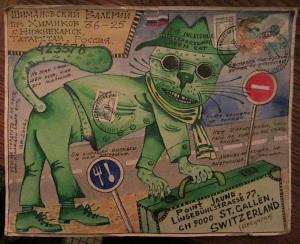 6 green cat#1