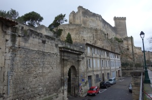 The Castle of Beaucaire and one of the entrances into town.