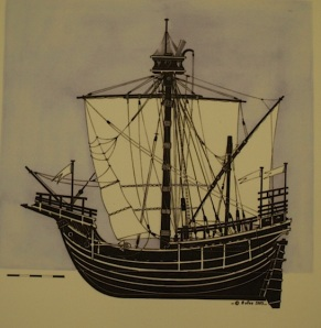 This is the type of vessel that used to navigate the River Rhone.