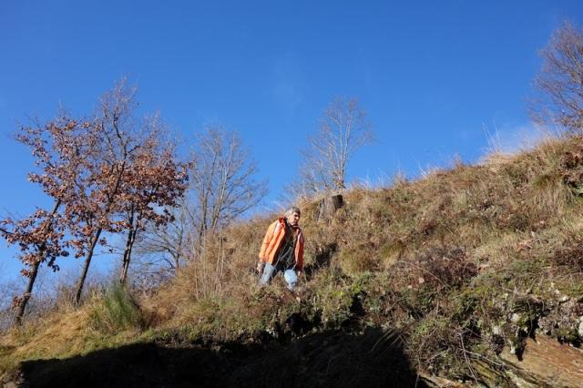 Walking the trail above Cassagnas village.