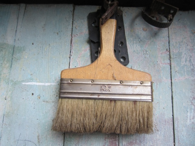 A brush doorknocker. It actually worked but it wasn't real loud.