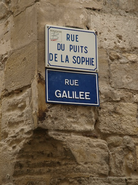 Sign near the Napoleon miniature.