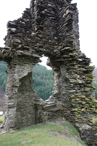 Corner of the ruined castle.