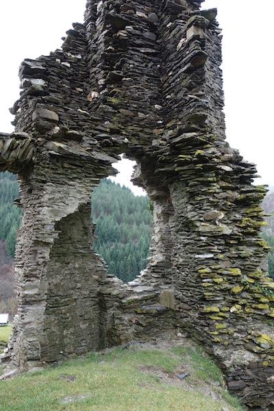 Corner of the ruined castle.