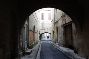 A medieval laneway inside the protective walls.   If only the walls could talk.