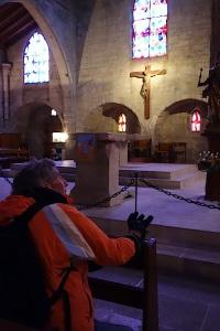 Inside the Church of Notre Dame des Sablons at Aigues-Mortes.