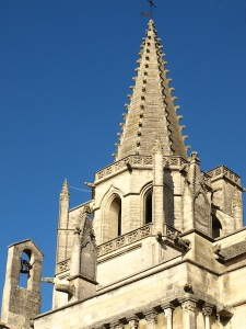 The Gothic spire.
