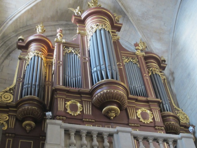 Pipe organ in St Martha's Church Tarascon.