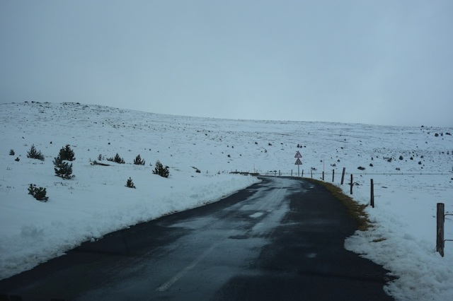 The road close to Mount Lozere.