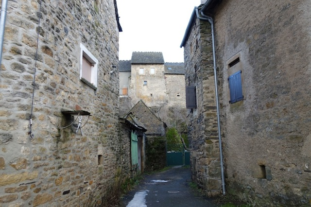 Narrow lane in Le Bleymard.