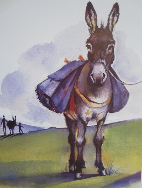 Modestine, Stevenson's not so co-operative donkey.