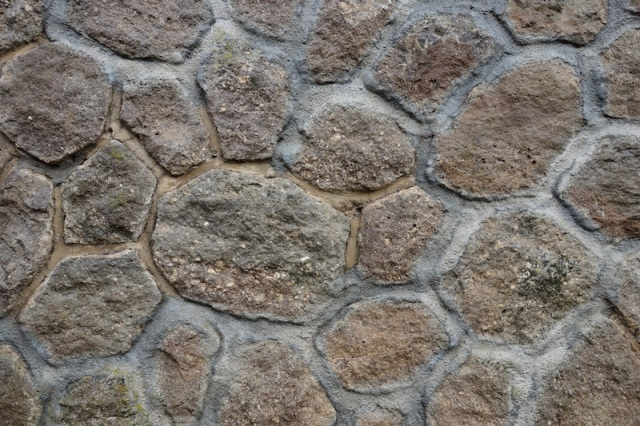 Close up of the viaduct stonework.