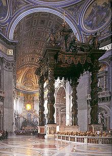 High altar, St Peter's Basilica Rome.