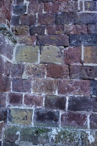 Close up of abbey wall.