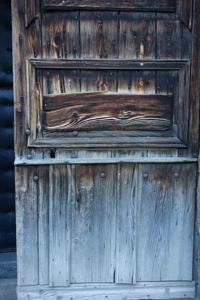 Beautifully weathered stable door at the abbey.