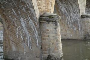 The noteworthy bridge pylon.