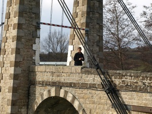 Bev on the bridge.