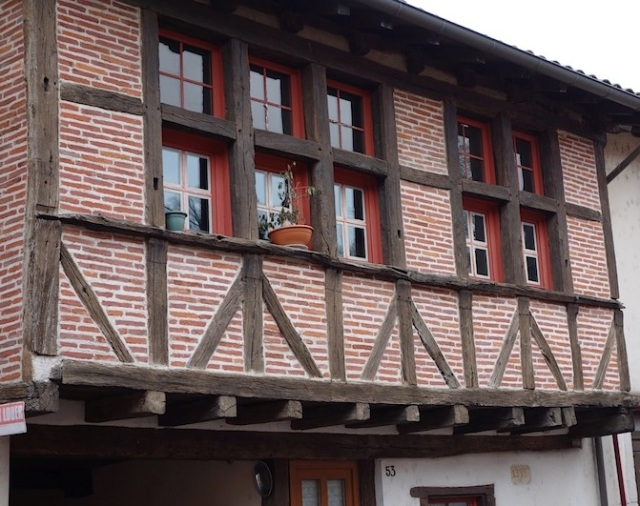 Half-timbered house in Chatillon-sur-Chalaronne