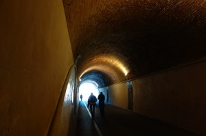 The old 1880 railway tunnel, linking Monterosso's new and old town.