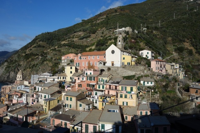Higher part of Vernazza town.
