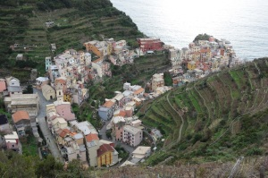 Or maybe this is. The picturesque Manarola situated in a narrow valley.