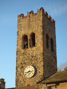 The medieval Aurora tower. Now the St. Giovanni Battista parish bell tower.